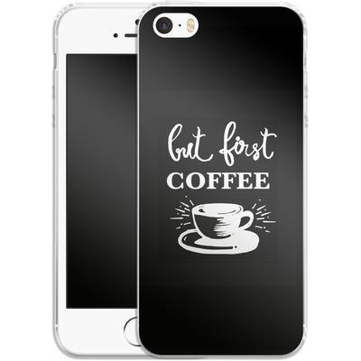 Apple iPhone 5s Silikon Handyhuelle - Coffee First von Mukta Lata Barua