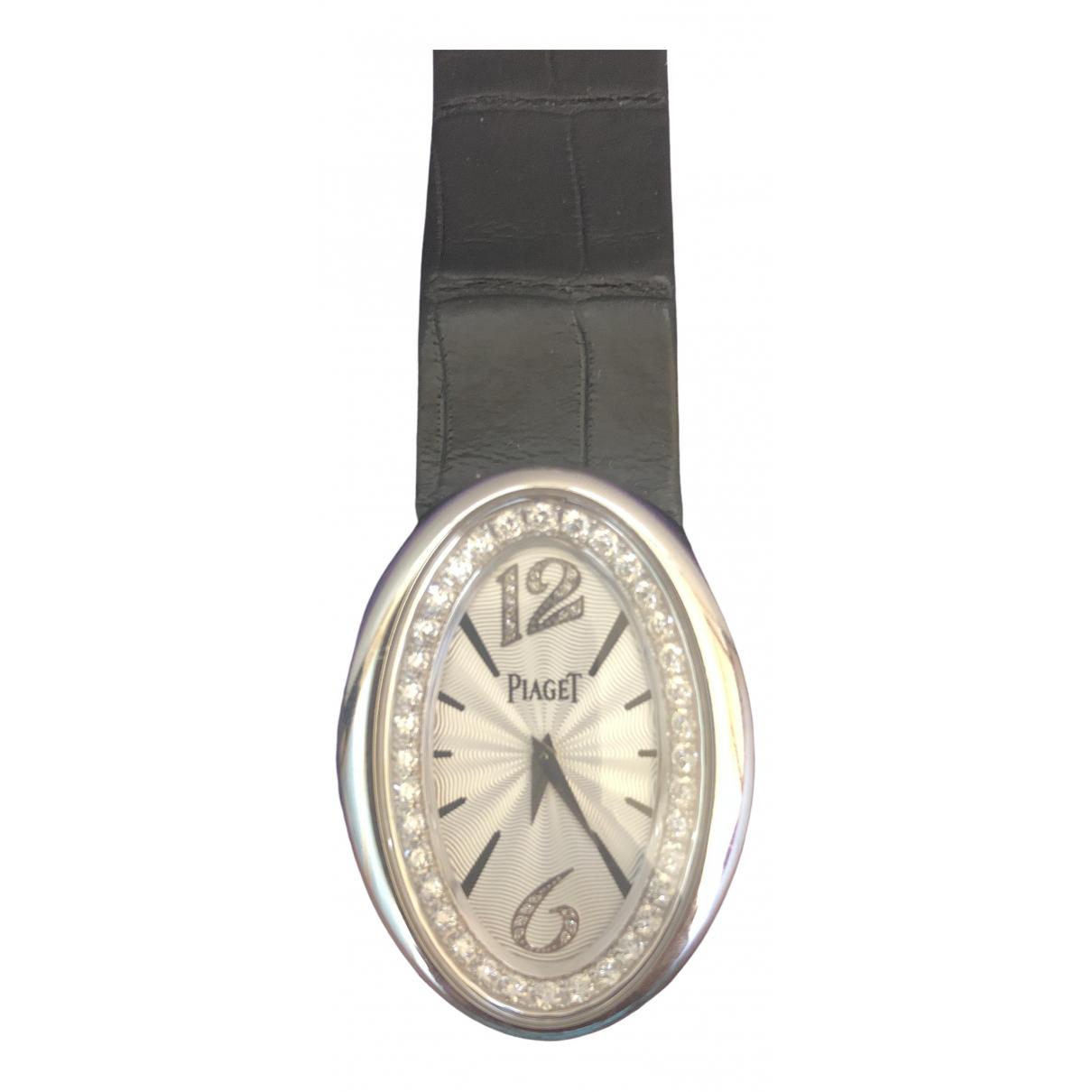 Piaget \N Black White gold watch for Women \N