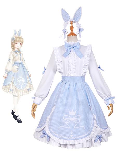 Milanoo Love Nikki Nikki Cosplay Game Anime Gilr Princess Lolita Dress Rabbit Version Halloween