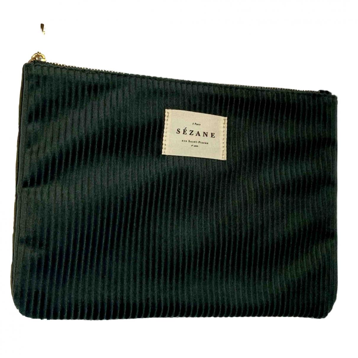 Sézane \N Green Velvet Clutch bag for Women \N