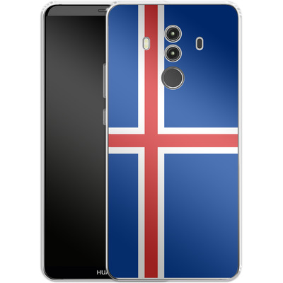 Huawei Mate 10 Pro Silikon Handyhuelle - Iceland Flag von caseable Designs