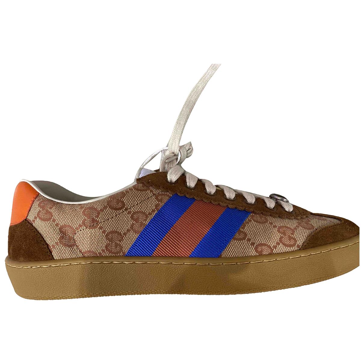Gucci \N Sneakers in  Beige Leinen