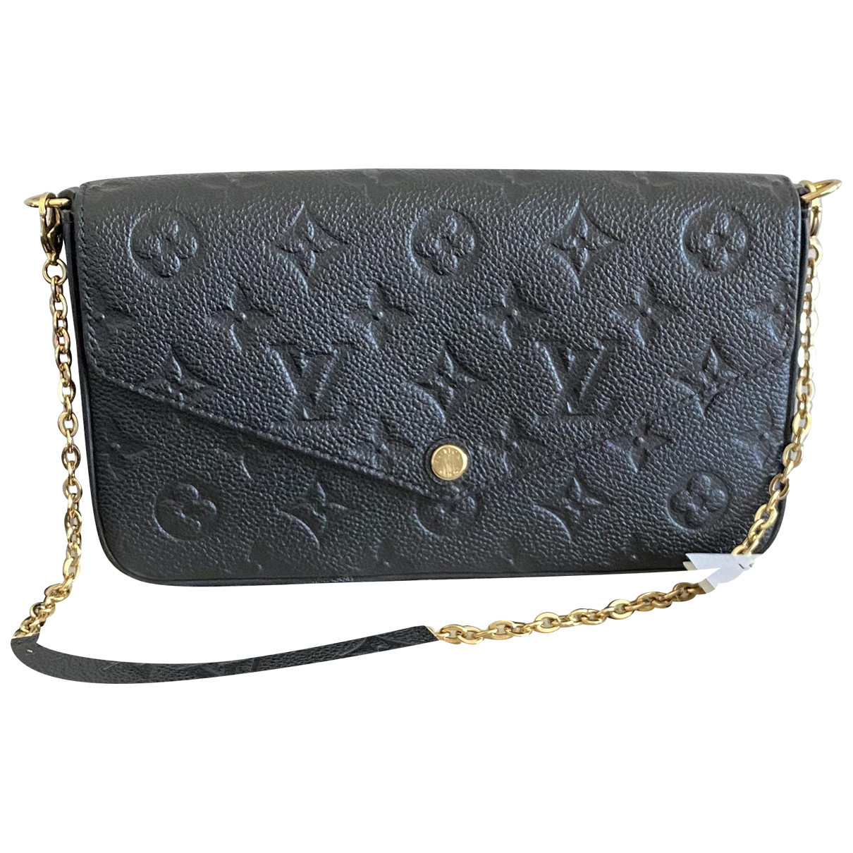 Louis Vuitton Felicie Clutch in  Schwarz Leder