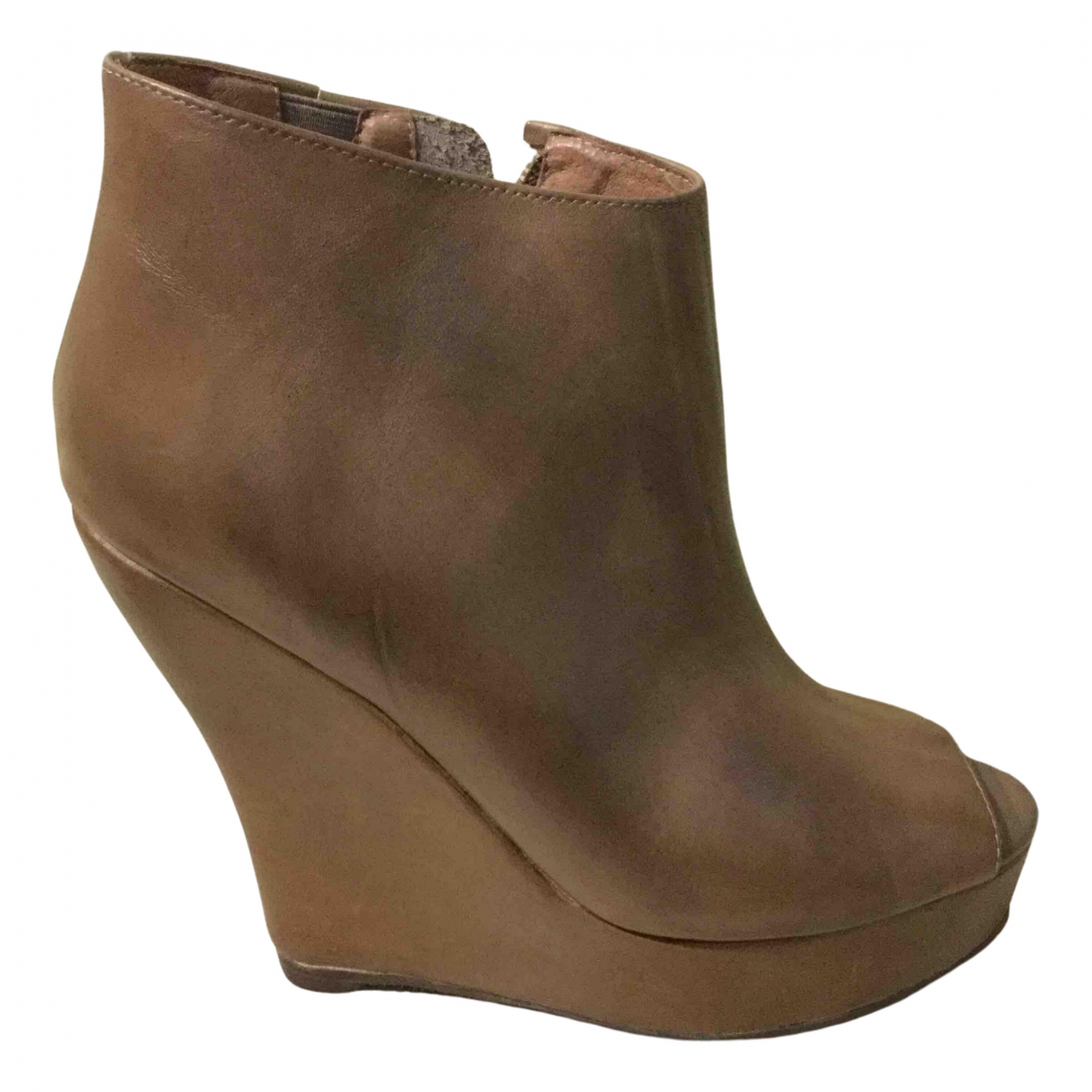 Jeffrey Campbell N Brown Leather Ankle boots for Women 37 IT