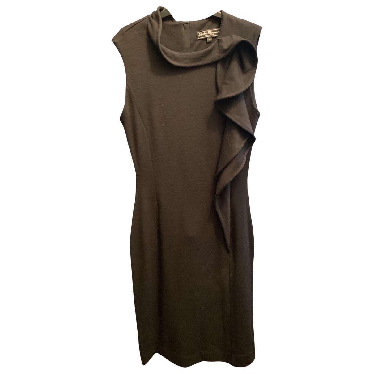 Salvatore Ferragamo - Robe   pour femme en laine - noir
