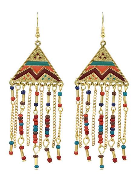Milanoo Boho Dangle Earrings Chandelier Earrings Bead Statement Earrings For Women