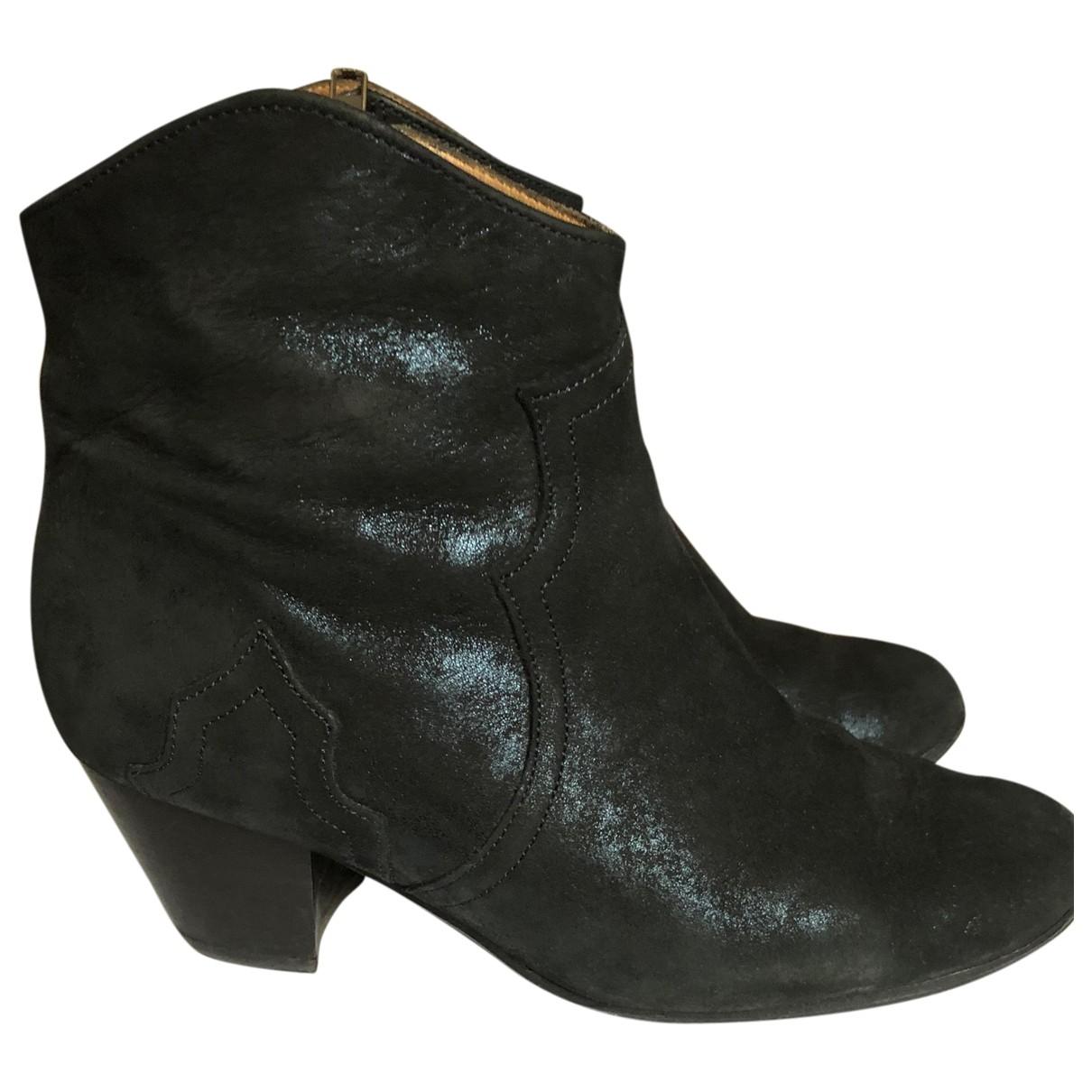 Isabel Marant - Boots Dicker pour femme en suede - bleu