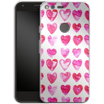 Google Pixel Silikon Handyhuelle - Heart Speckle von Amy Sia