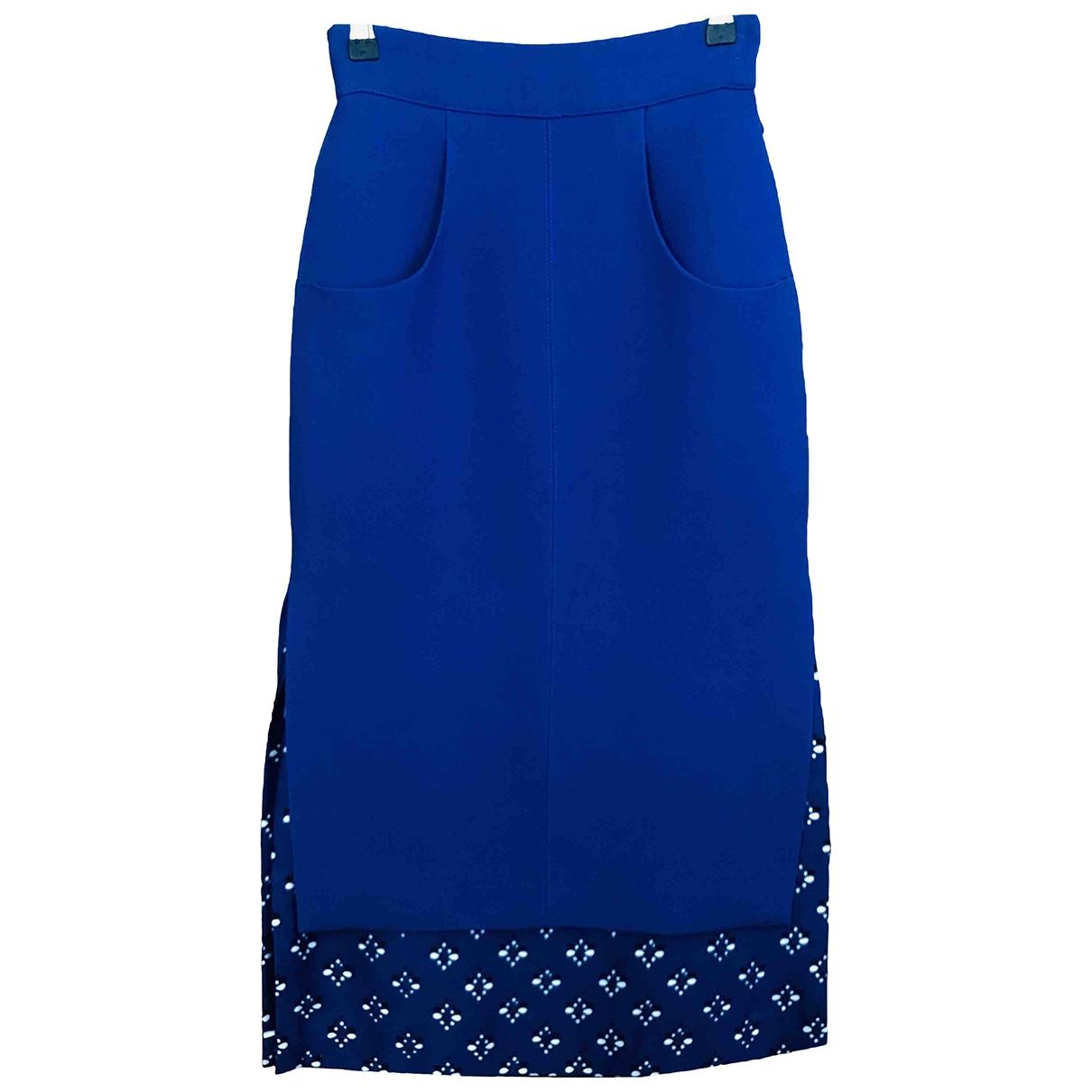 Fendi - Jupe   pour femme en soie - bleu