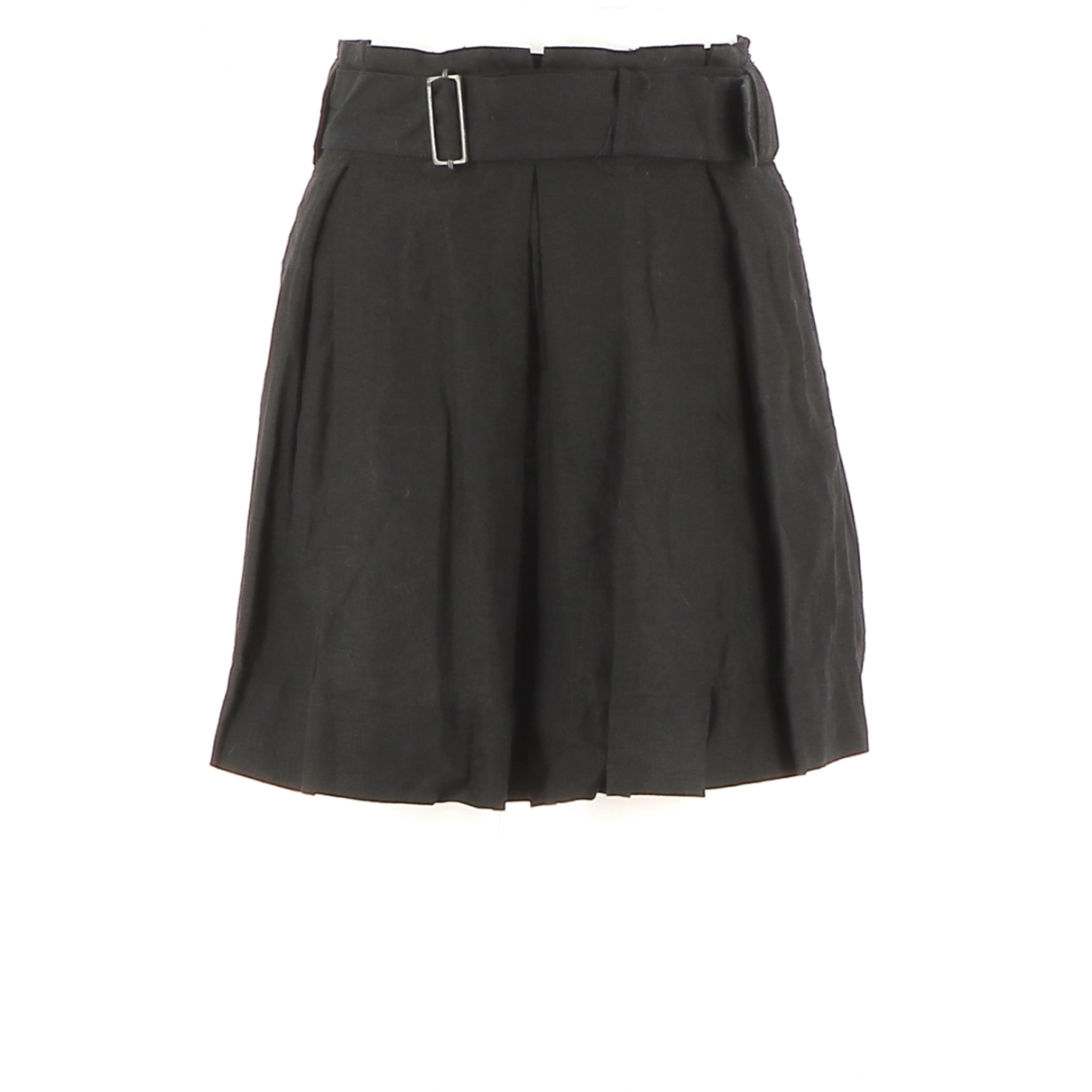 Comptoir Des Cotonniers \N Black Linen skirt for Women 34 FR