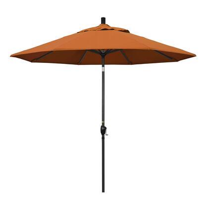 GSPT908302-5417 9' Pacific Trail Series Patio Umbrella With Stone Black Aluminum Pole Aluminum Ribs Push Button Tilt Crank Lift With Sunbrella 2A