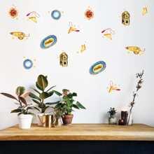 6sheets Food Print Wall Sticker Set