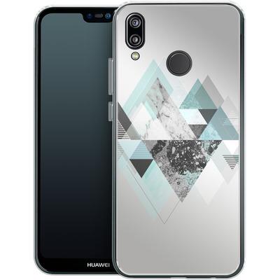 Huawei P20 Lite Silikon Handyhuelle - Graphic 110 - Turquoise von Mareike Bohmer