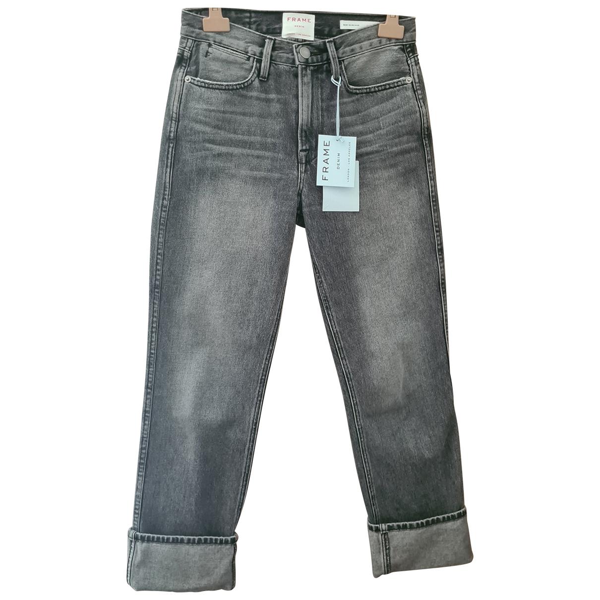 Frame Denim \N Grey Cotton Jeans for Women 26 US