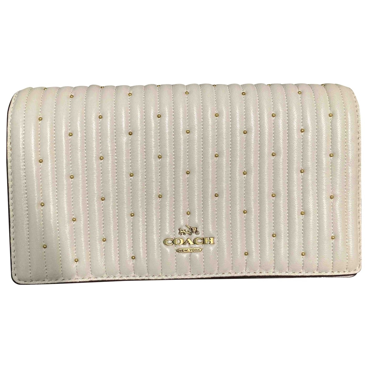 Coach Smooth Crossbody  White Leather Clutch bag for Women \N