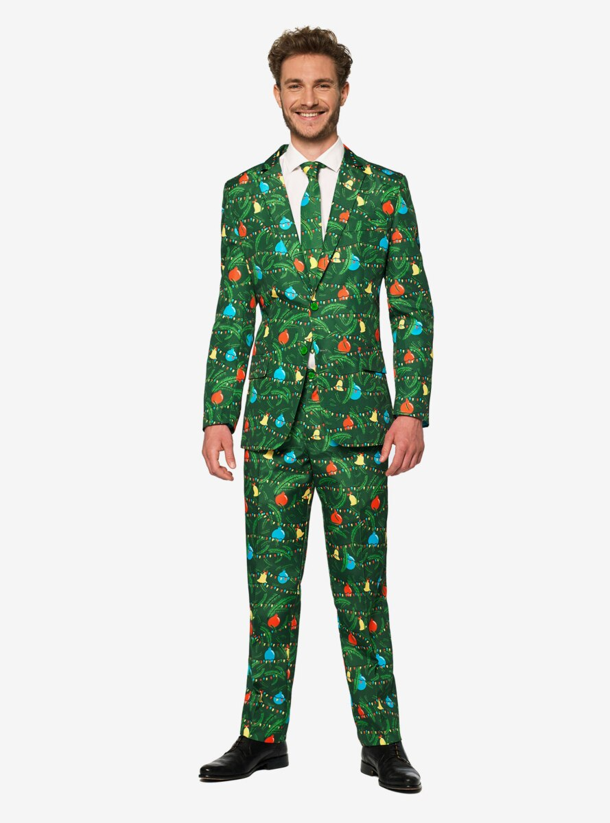 Suitmeister Men's Christmas Green Tree Christmas Light Up Suit