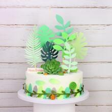 7pcs Leaf Shaped Cake Topper