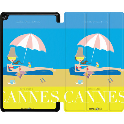 Amazon Fire HD 8 (2017) Tablet Smart Case - CANNES TRAVEL POSTER von IRMA