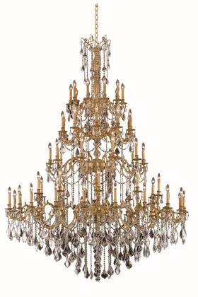 9260G72FG/EC 9260 Rosalia Collection Large Hanging Fixture D72in H96in L60 French Gold Finish (Elegant Cut