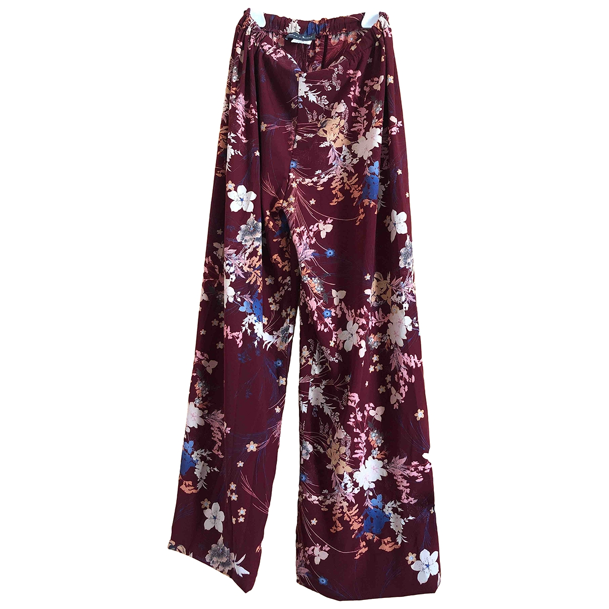 Non Signé / Unsigned \N Burgundy Trousers for Women S International