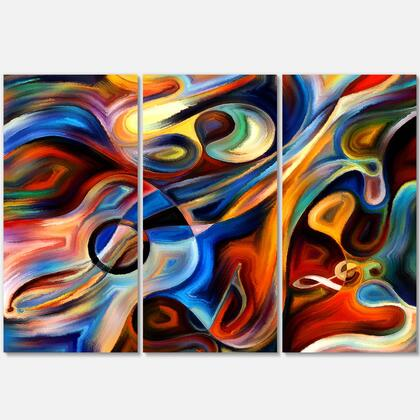 PT6152-3P Abstract Music And Rhythm - Abstract Canvas Art Print - 36X28 - 3