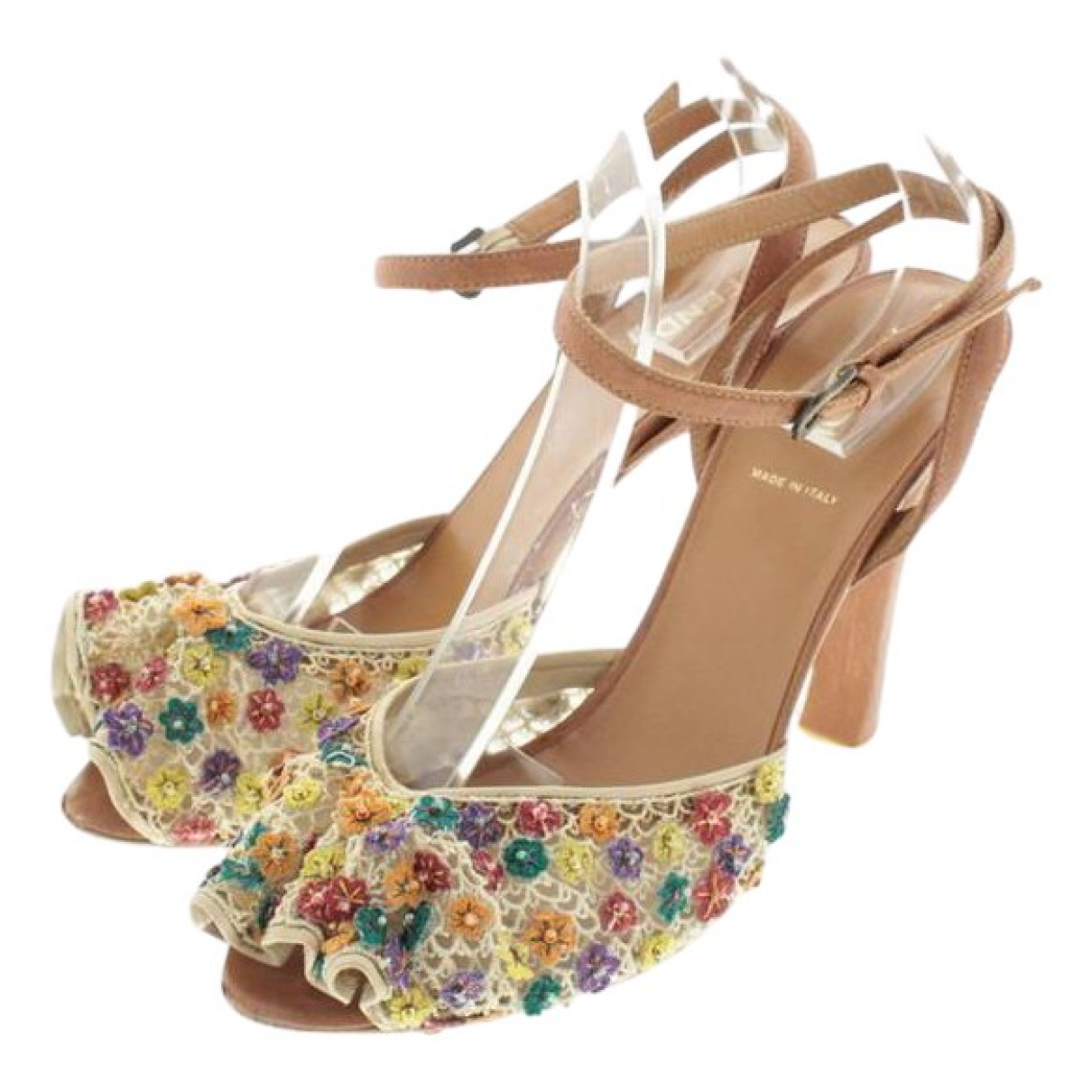 Fendi \N Multicolour Cloth Heels for Women 38 EU