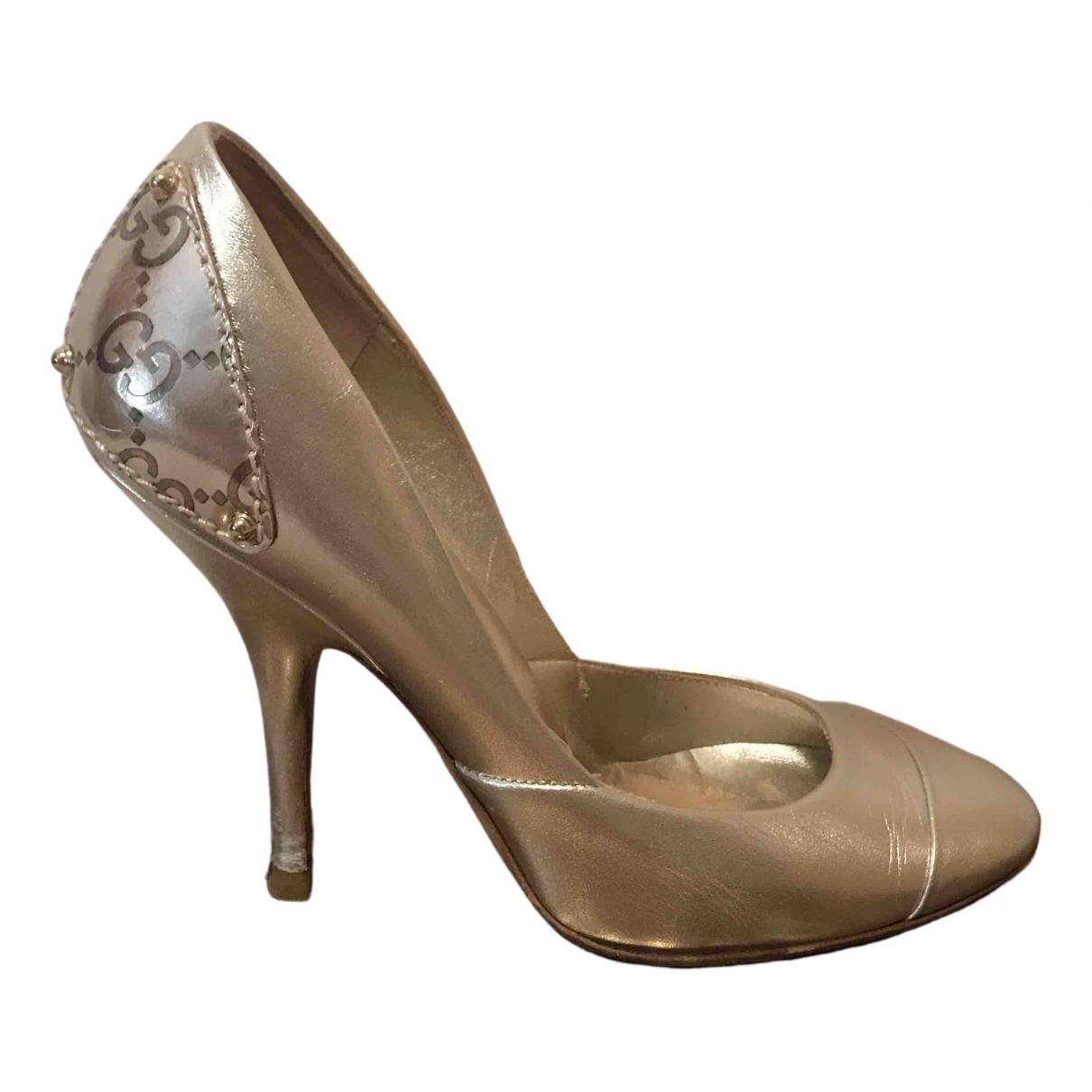 Gucci \N Metallic Leather Heels for Women 34 EU