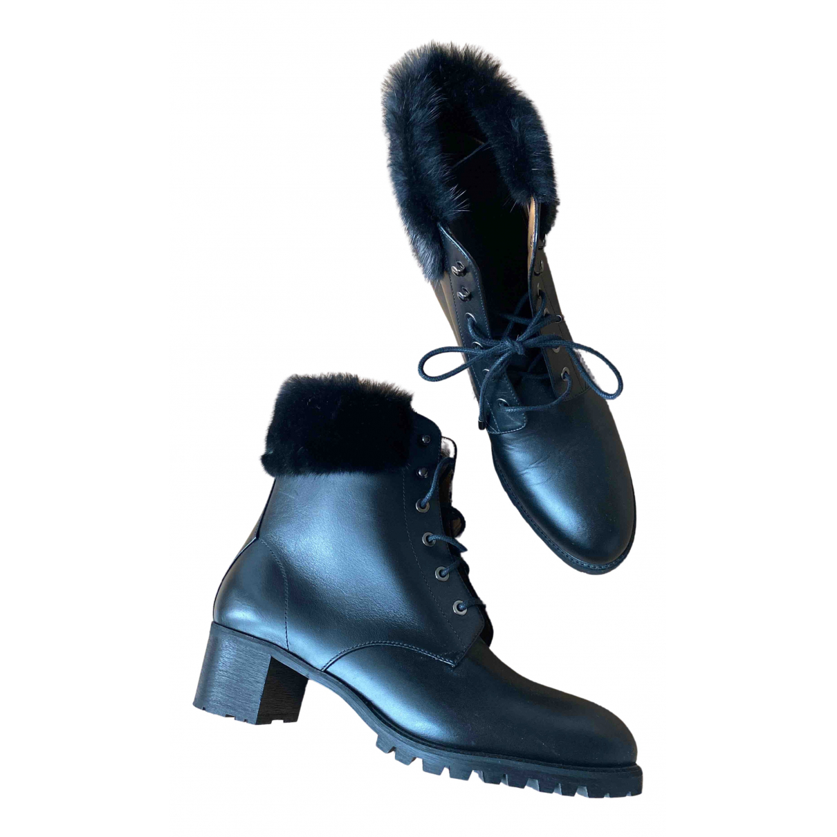 Aquazzura - Boots   pour femme en cuir - noir