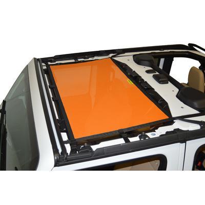 DirtyDog 4x4 Front Sun Screen (Orange) - JL4S18F1OR