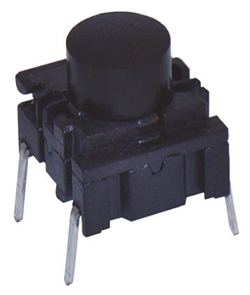 MEC IP67 Black Cap Tactile Switch, Single Pole Single Throw (SPST) 50 mA @ 24 V dc (2)