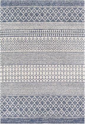 LCS2307-710102 7 10 x 10 2 Rug  in Dark Blue and White and