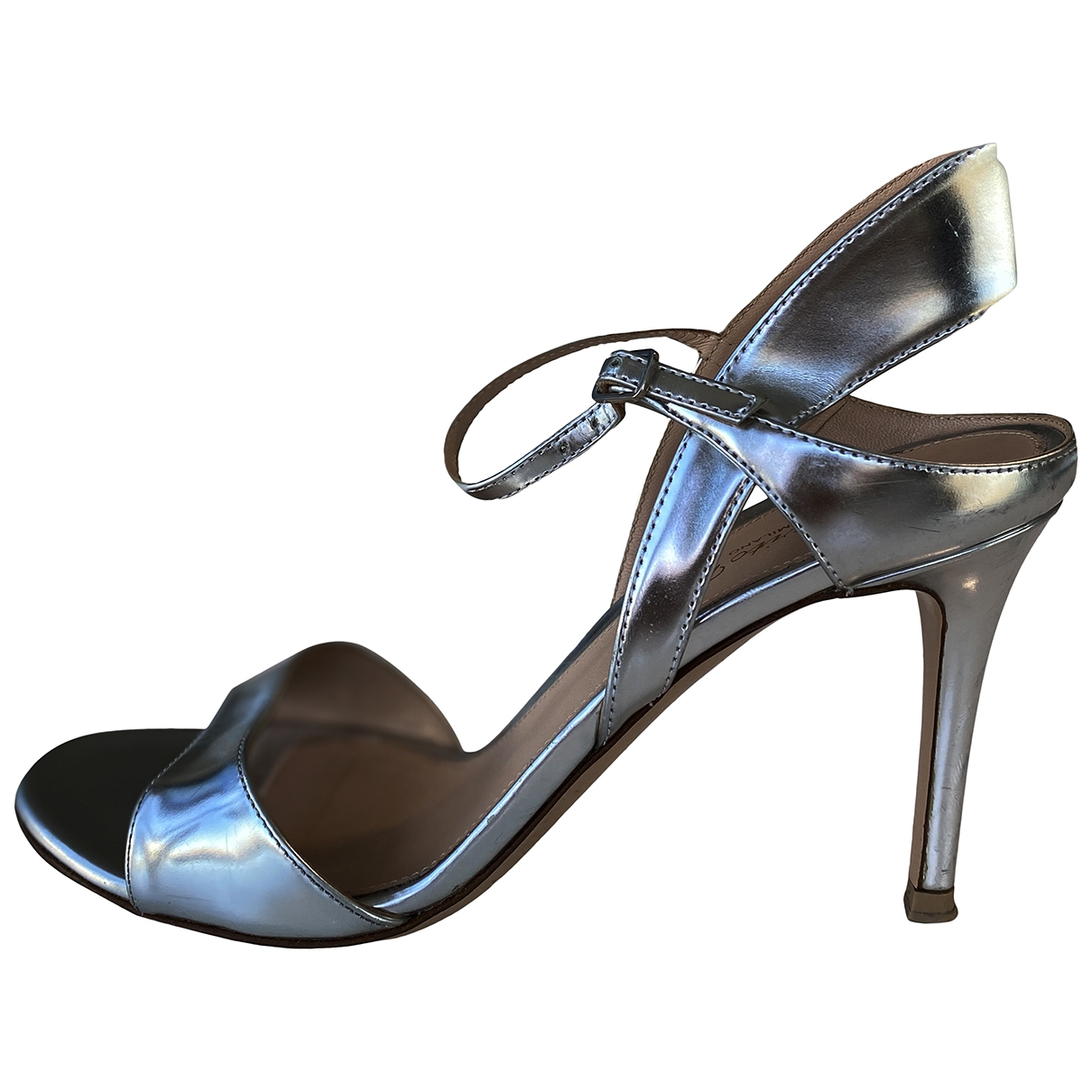 Gianvito Rossi - Escarpins   pour femme en cuir verni - argente