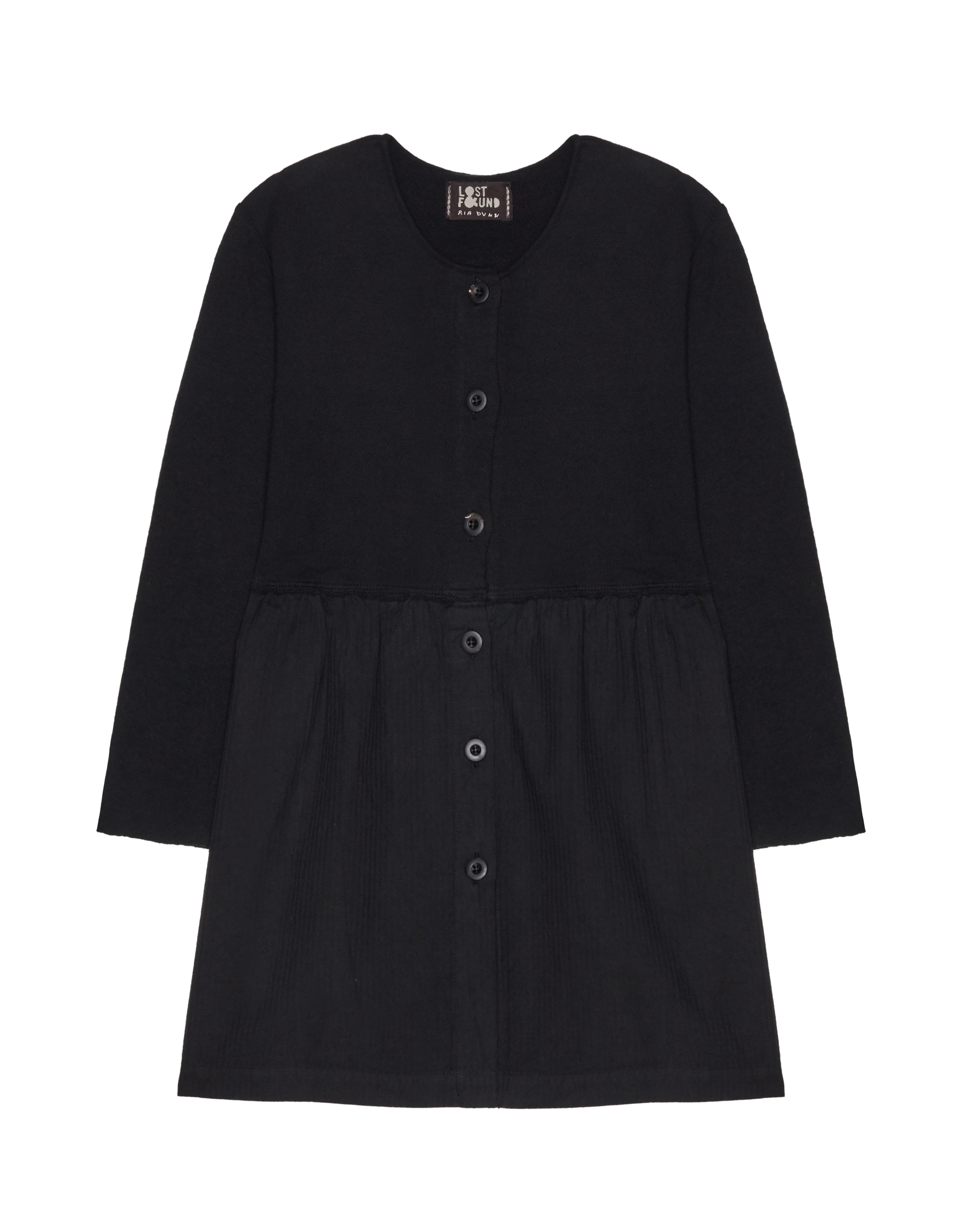 Lost&Found kids Black Wool & Cotton Dress