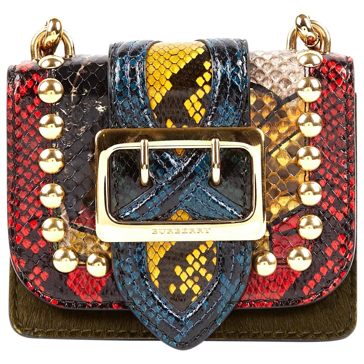 Burberry - Pochette   pour femme en python - multicolore