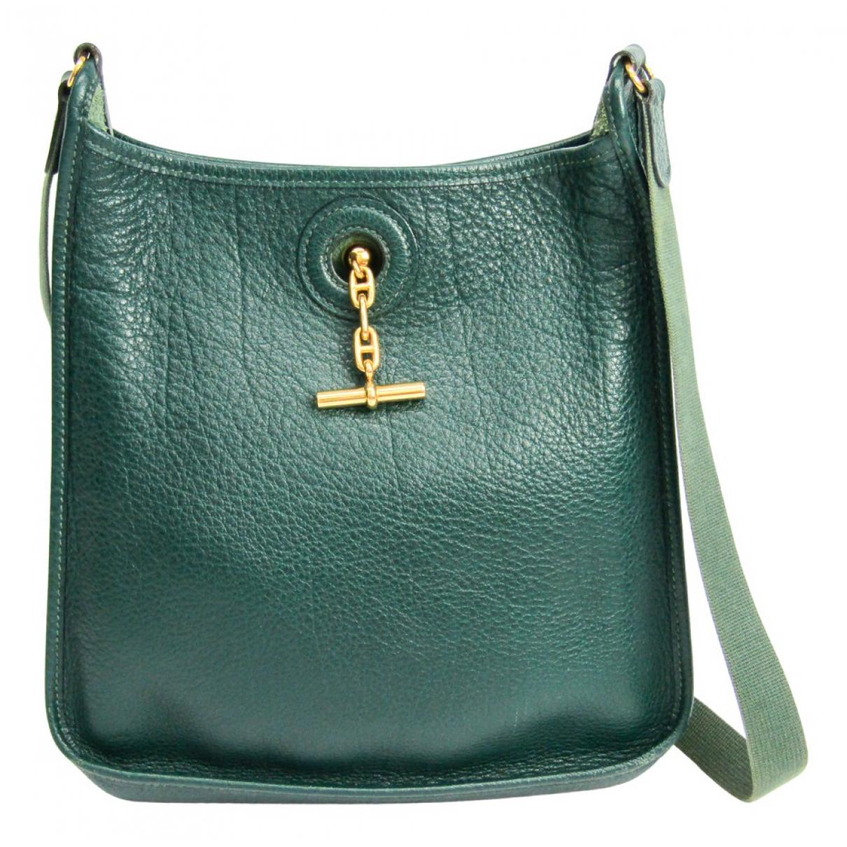 Hermes - Sac a main Vespa pour femme en cuir - vert