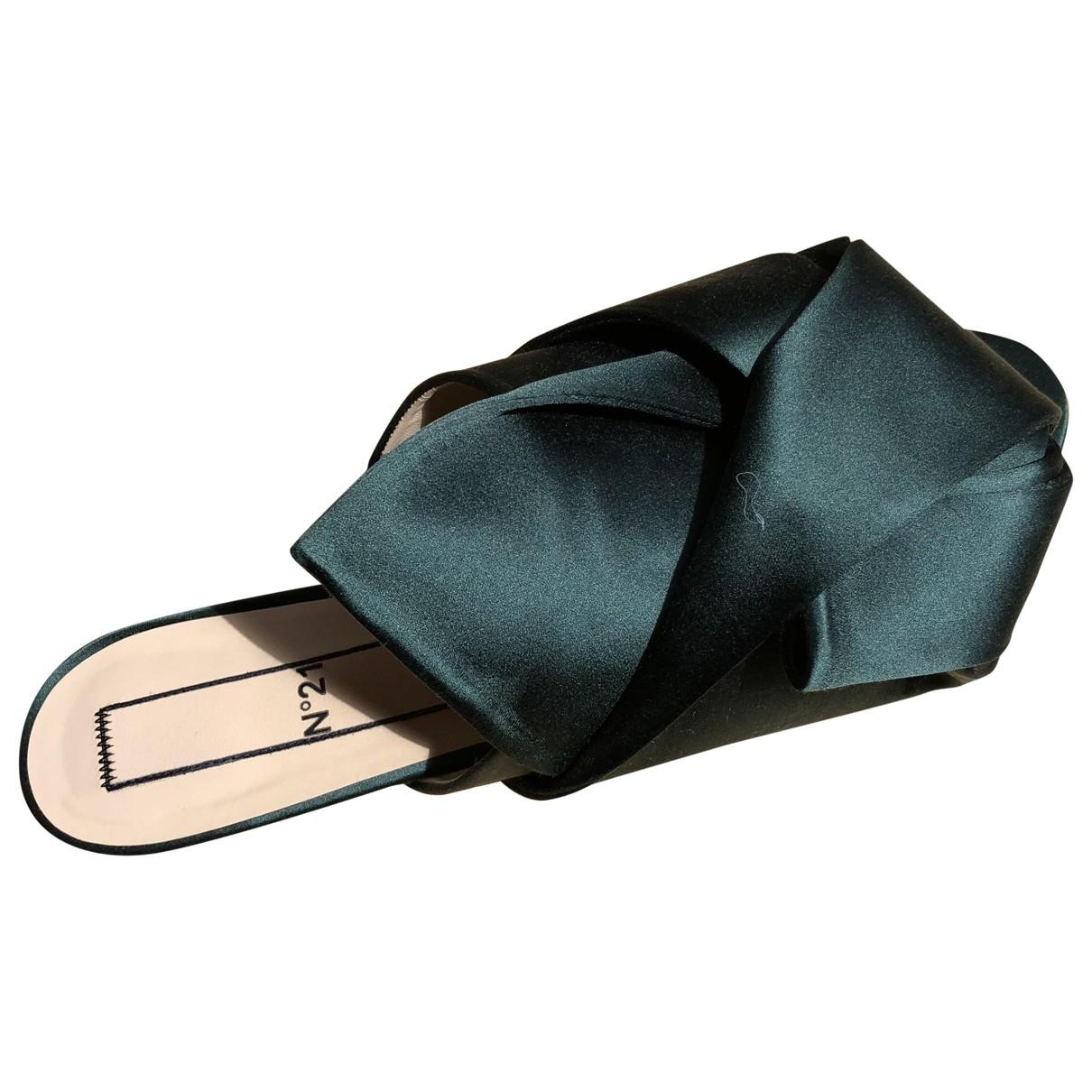 N°21 \N Sandalen in  Gruen Leder