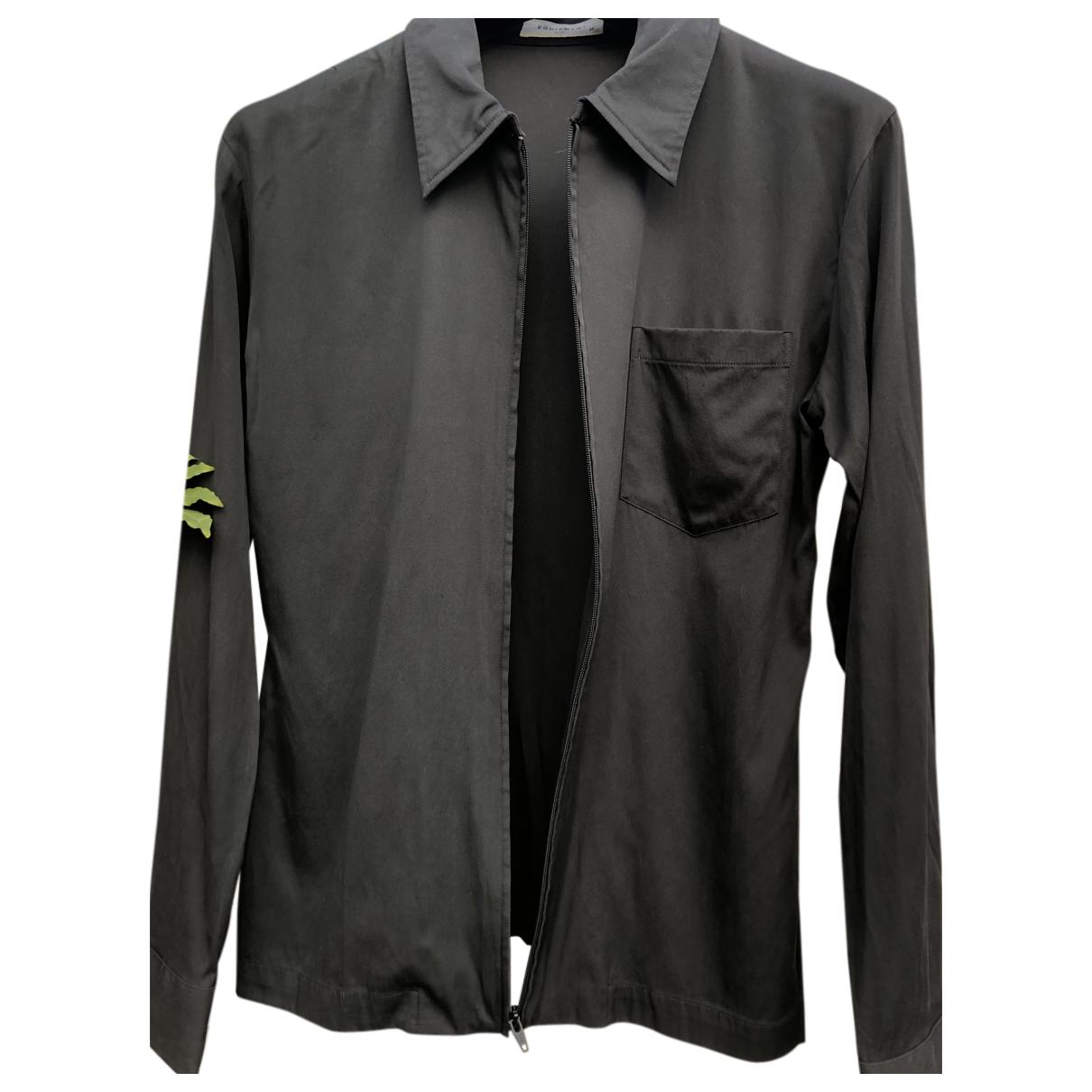 Equipment - Top   pour femme en soie - noir