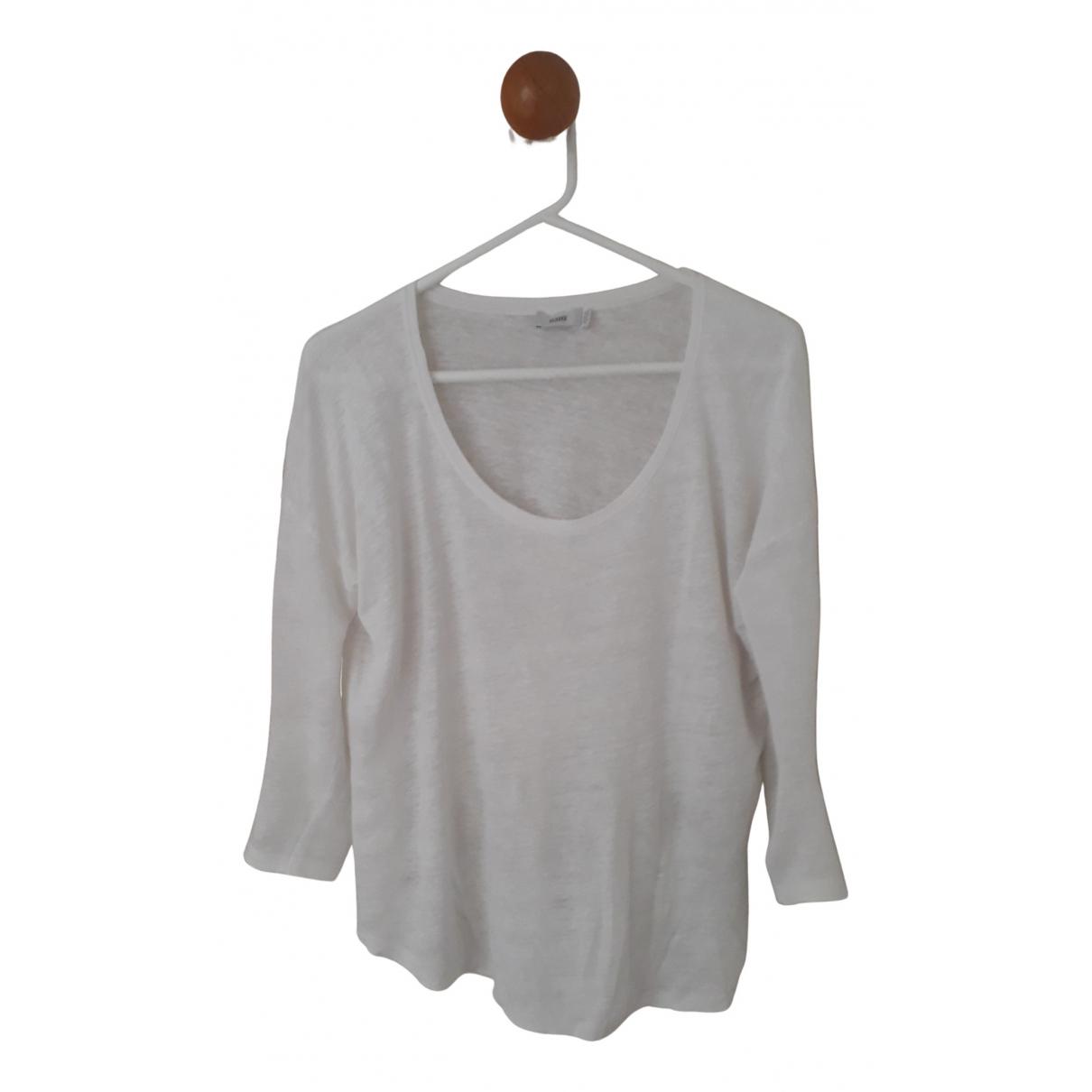 Closed - Top   pour femme en lin - blanc