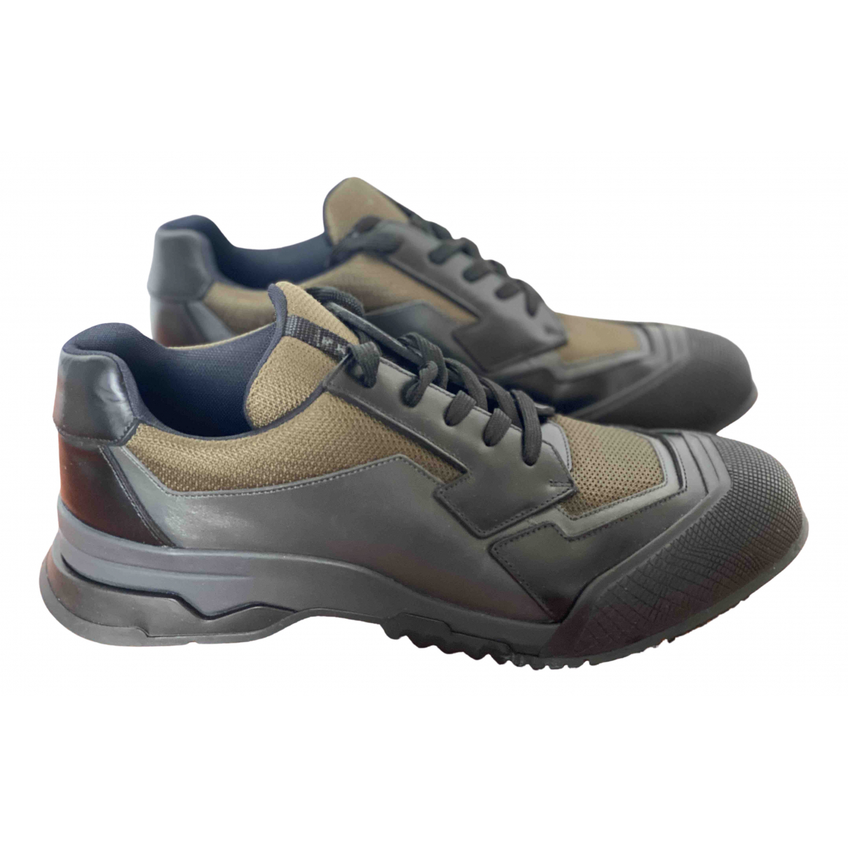 Prada \N Khaki Cloth Trainers for Men 11 UK