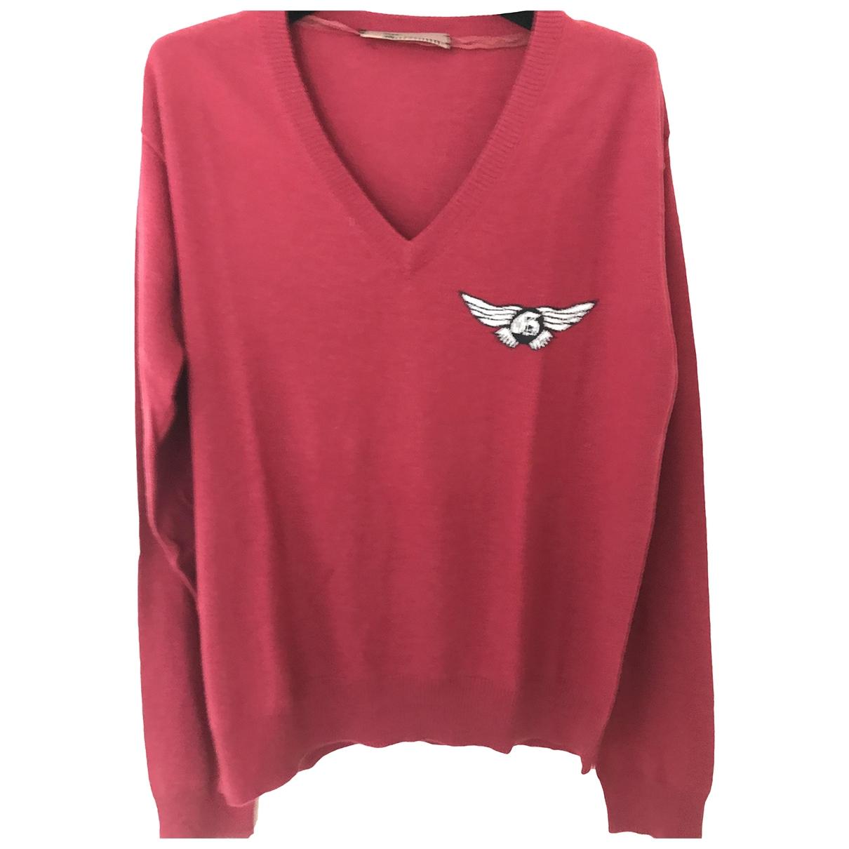 John Galliano \N Pullover.Westen.Sweatshirts  in  Rot Seide