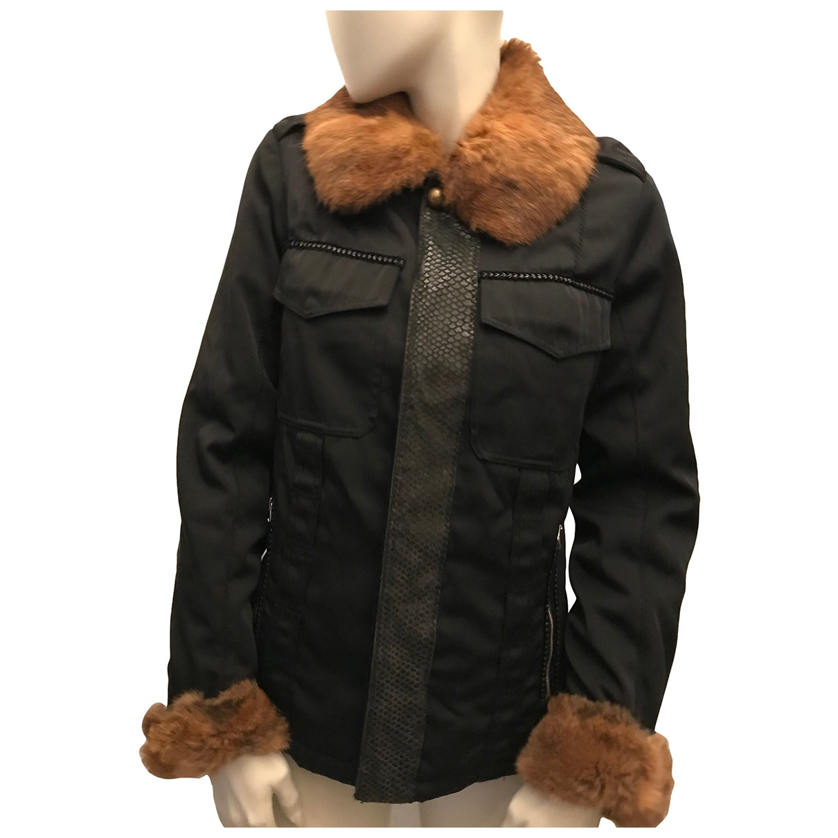 Pinko \N Black Leather jacket for Women M International