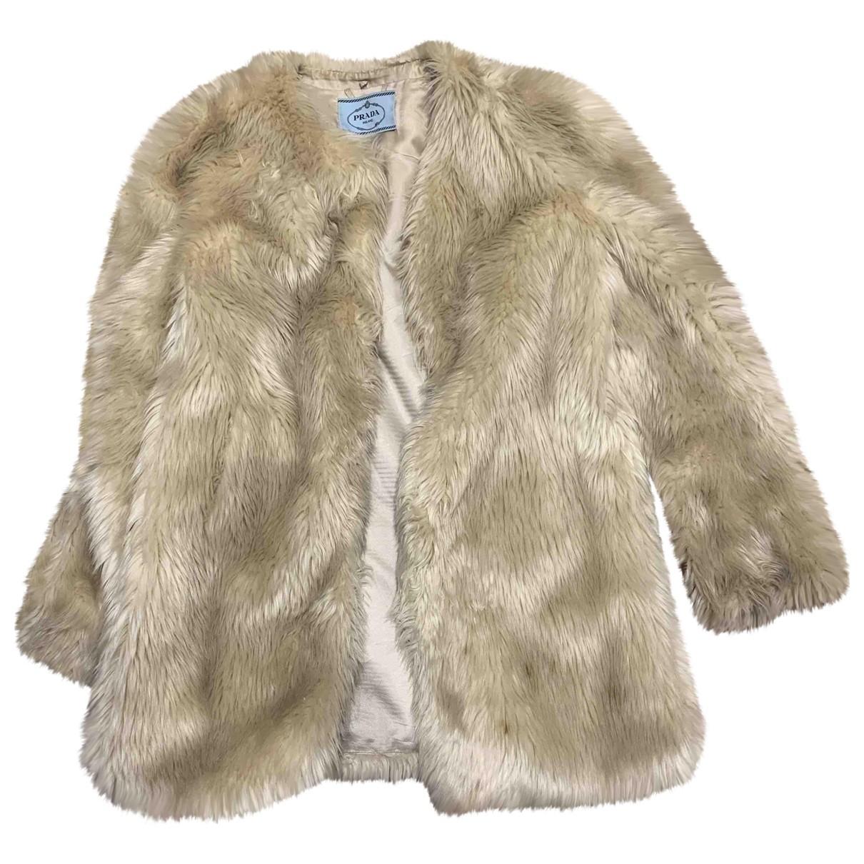Prada N Faux fur coat for Women 44 IT