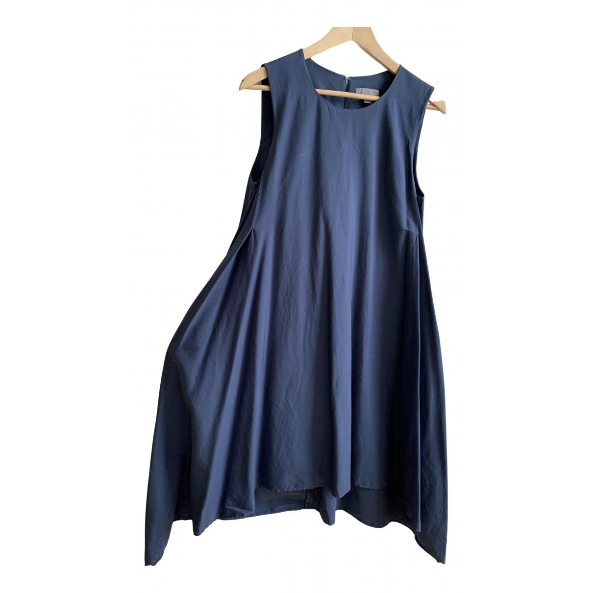 Cos - Robe   pour femme en coton - elasthane - bleu