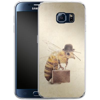 Samsung Galaxy S6 Silikon Handyhuelle - Worker Bee von Eric Fan