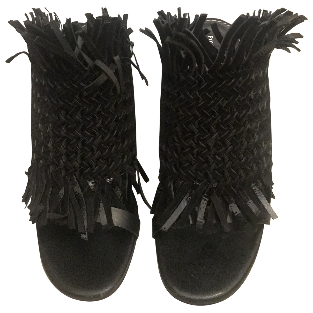 Proenza Schouler \N Black Leather Sandals for Women 38.5 EU