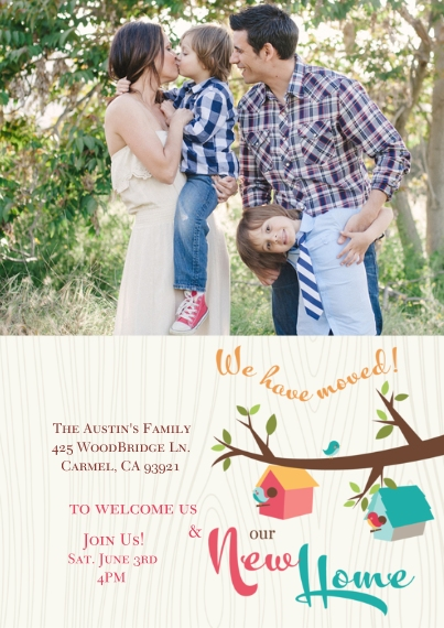 Moving 5x7 Cards, Premium Cardstock 120lb with Rounded Corners, Card & Stationery -Neighboring Nests