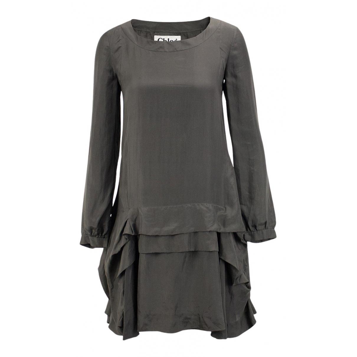 Chloé N Grey Silk dress for Women 34 FR