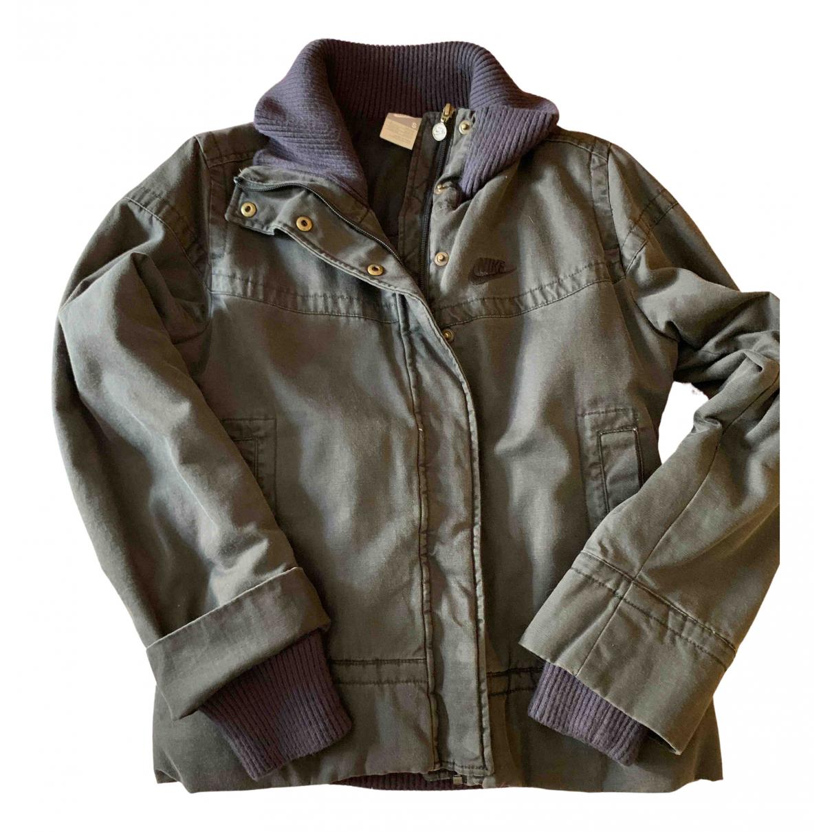 Nike - Manteau   pour femme en coton - gris