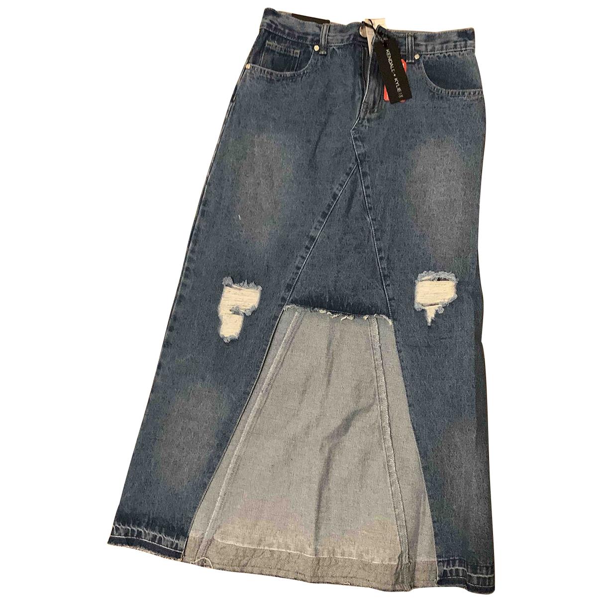 Kendall + Kylie \N Rocke in  Blau Denim - Jeans