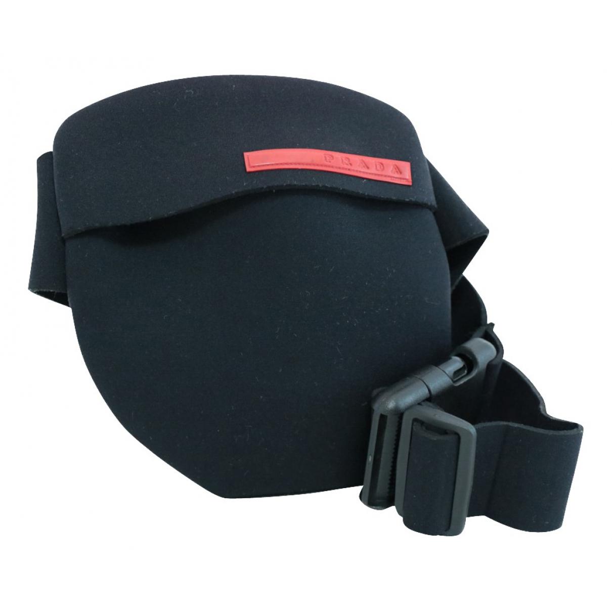 Prada N Black Cloth Clutch bag for Women N